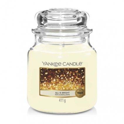 Yankee Candle - vonná svíčka All Is Bright (Všechno jen září) 411g