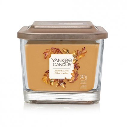 yankee candle amber acorn svicka stredni