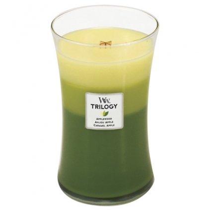WoodWick - vonná svíčka Trilogy, Oslava jablek 609g