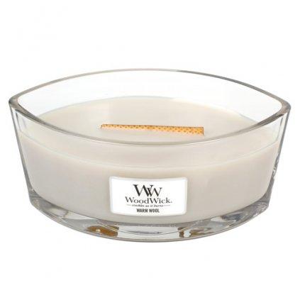 WoodWick - vonná svíčka Warm Wool (Hřejivá vlna) 453g