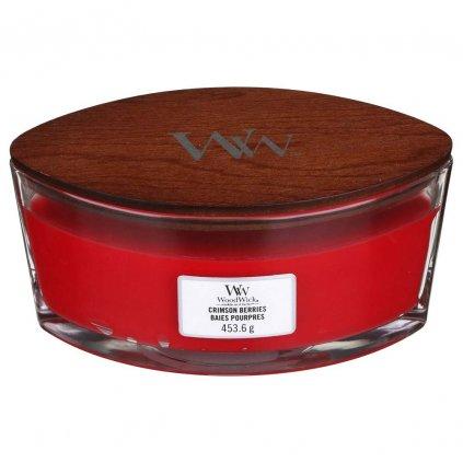 WoodWick - vonná svíčka Crimson Berries (Červená jeřabina) 453g