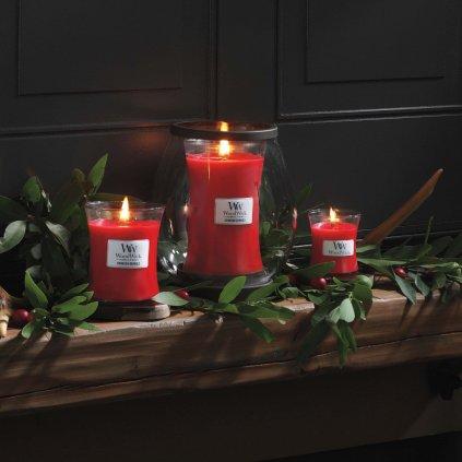WoodWick - vonná svíčka Crimson Berries (Červená jeřabina) 609g