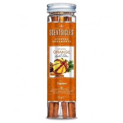 ScentSicles - vůně na stromeček Spiced Orange, 6 ks