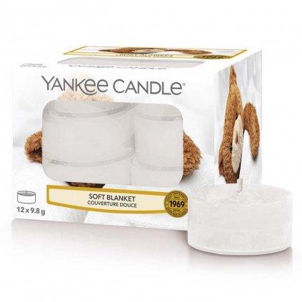 Yankee Candle - čajové svíčky Soft Blanket (Jemná přikrývka) 12 ks