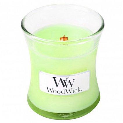 WoodWick - vonná svíčka Máta a bazalka 85g