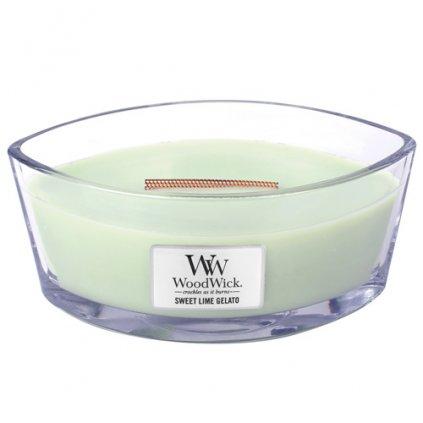 WoodWick - vonná svíčka Sweet Lime Gelato (Sladká zmrzlina) 453g