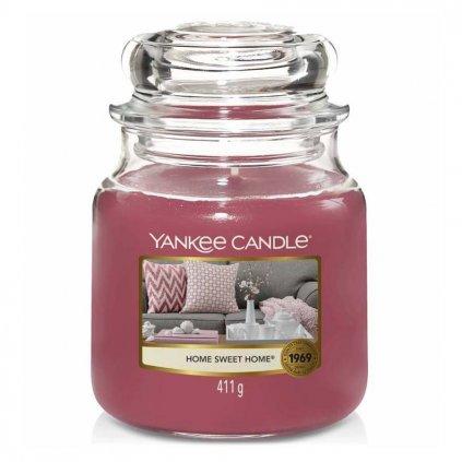 Yankee Candle - vonná svíčka Home Sweet Home (Ó sladký domove) 411g