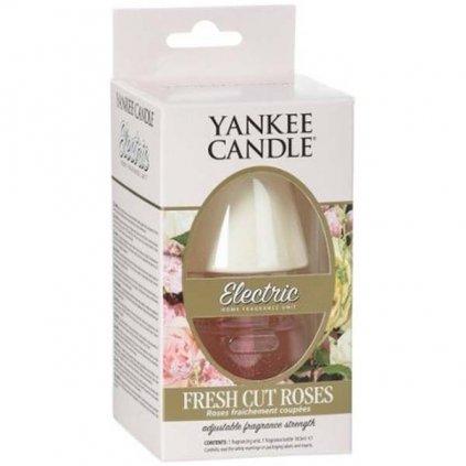Yankee Candle - elektrický difuzér do zásuvky ELECTRIC, vůně Fresh Cut Roses