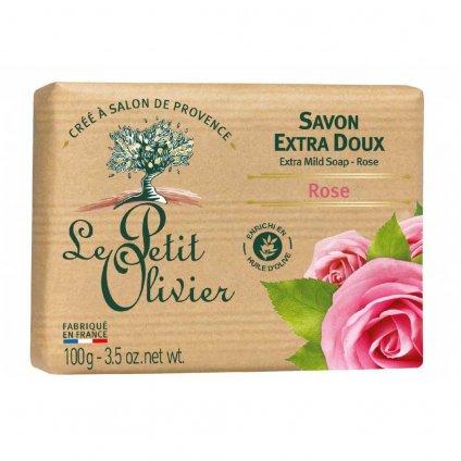 Le Petit Olivier - extra jemné mýdlo Růže 100g