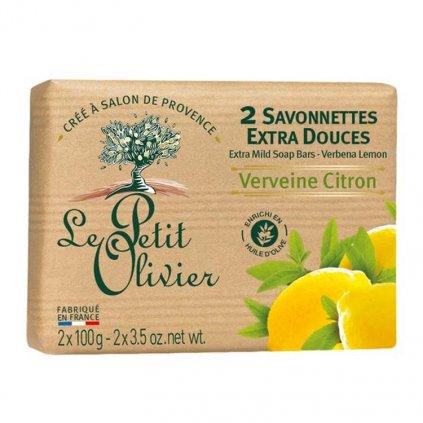 Le Petit Olivier - extra jemné mýdlo Verbena & Citrón 2x100g