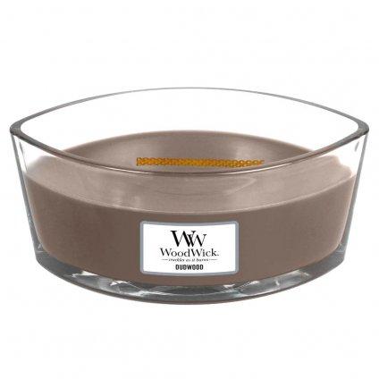 WoodWick - vonná svíčka Oudwood (Pryskyřice) 453g