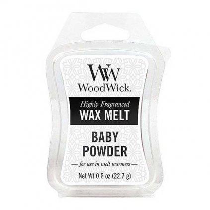 WoodWick - vonný vosk Dětský pudr 23g