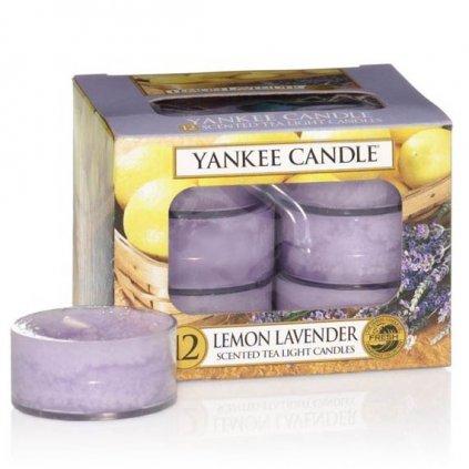 Yankee Candle - čajové svíčky Lemon Lavender 12ks