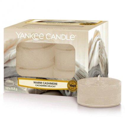 Yankee Candle - čajové svíčky Warm Cashmere (Hřejivý kašmír) 12 ks
