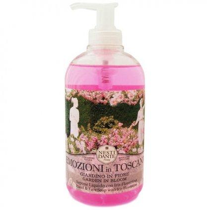 Nesti Dante - přírodní tekuté mýdlo Emozioni in Toscana, Rozkvetlá zahrada 500 ml