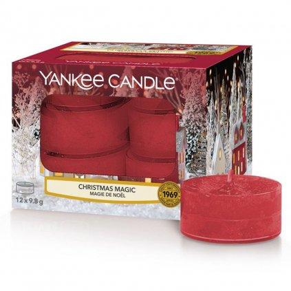 Yankee Candle - čajové svíčky Christmas Magic (Vánoční kouzlo) 12 ks