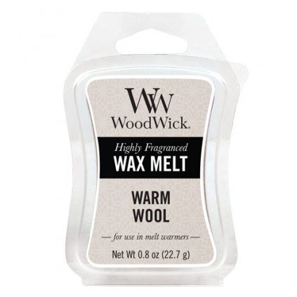 WoodWick vonný vosk Warm Wool (Hřejivá vlna) 23g