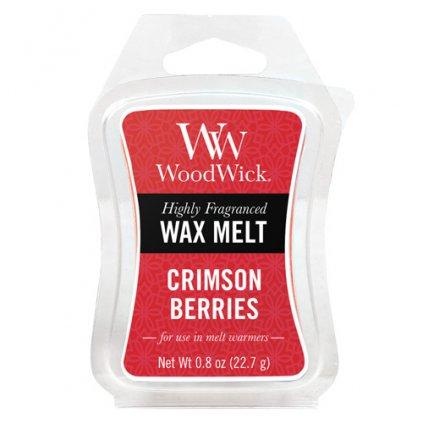 WoodWick - vonný vosk Crimson Berries (Červená jeřabina) 23g