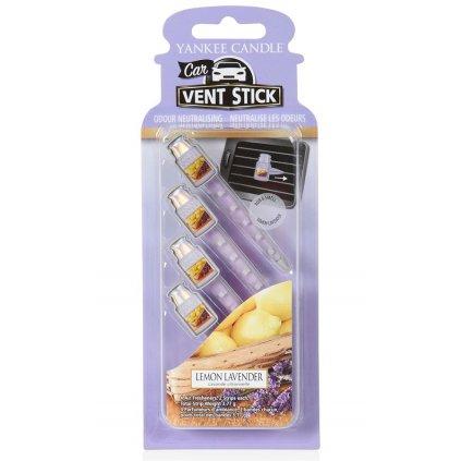 Yankee Candle - vůně do auta, kolíčky Lemon Lavender 4 ks