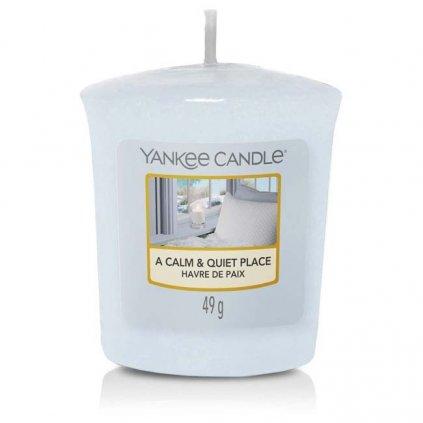 Yankee Candle - votivní svíčka A Calm & Quiet Place (Klidné a tiché místo) 49g