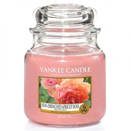 Yankee Candle - vonná svíčka Sun-Drenched Apricot Rose 411g