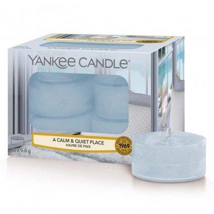 Yankee Candle - čajové svíčky A Calm & Quiet Place (Klidné a tiché místo) 12 ks