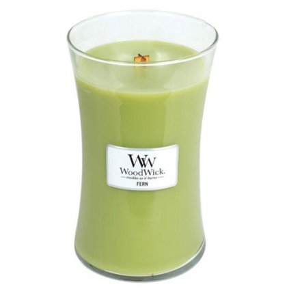 WoodWick - vonná svíčka Fern (Kapradina) 609g