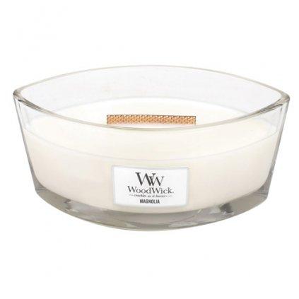 WoodWick - vonná svíčka Magnolia (Magnólie) 453g