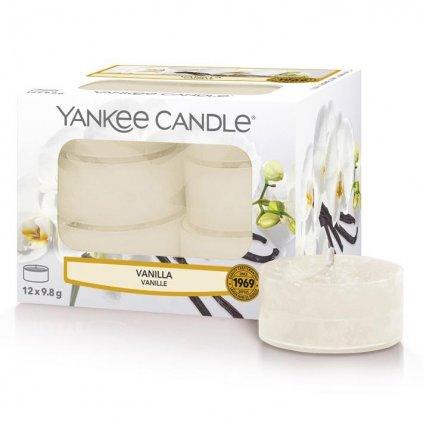 Yankee Candle - čajové svíčky Vanilla 12 ks