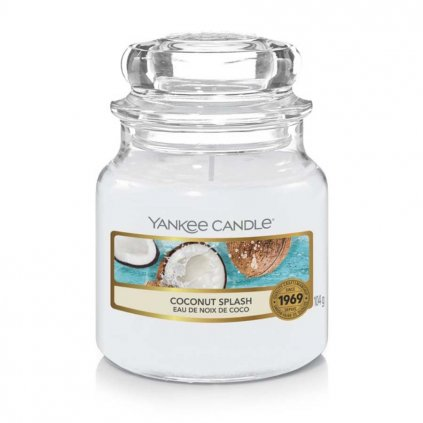 Yankee Candle - vonná svíčka Coconut Splash (Kokosové osvěžení) 104g