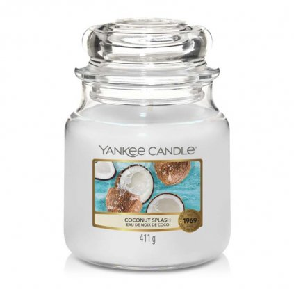 Yankee Candle - vonná svíčka Coconut Splash (Kokosové osvěžení) 411g
