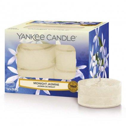 Yankee Candle - čajové svíčky Midnight Jasmine (Půlnoční jasmín) 12 ks