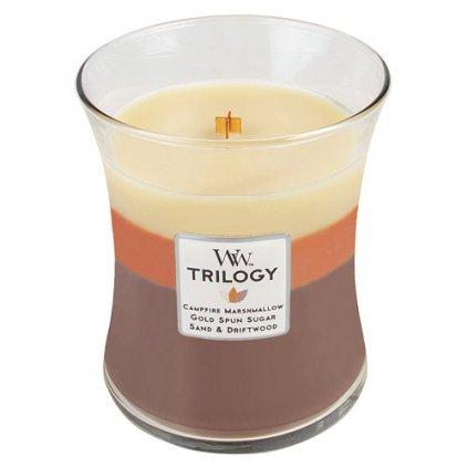 WoodWick - vonná svíčka Trilogy, Západ slunce u táboráku 275g