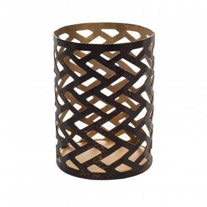 WoodWick - svícen Herringbone na Petite svíčku