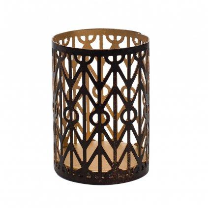 WoodWick - svícen Geometric na Petite svíčku