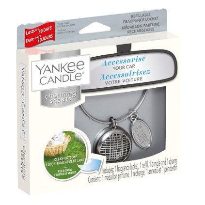 Yankee Candle - Charming Scents set Linear, vůně do auta Clean Cotton 90g