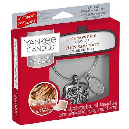 Yankee Candle - Charming Scents set Square, vůně do auta Sparkling Cinnamon 90g