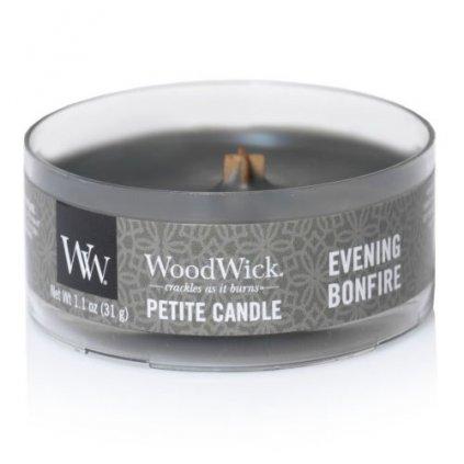 WoodWick - vonná svíčka Petite, Evening Bonfire (Večer u táboráku) 31g