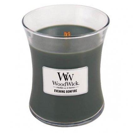 WoodWick - vonná svíčka Evening Bonfire (Večer u táboráku) 275g