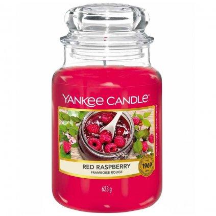 Yankee Candle - vonná svíčka Red Raspberry (Červená malina) 623g