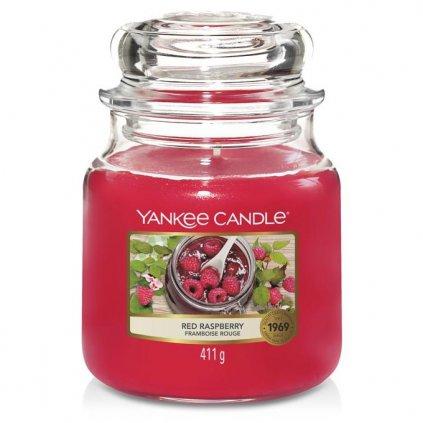 Yankee Candle - vonná svíčka Red Raspberry (Červená malina) 411g