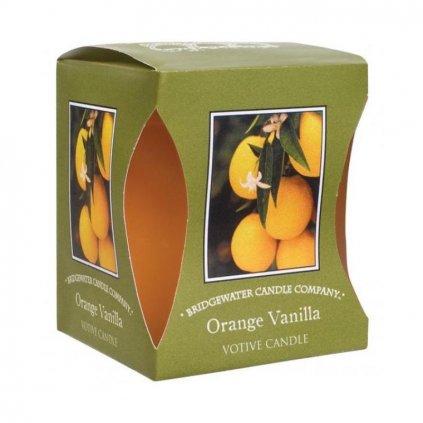 Bridgewater - votivní svíčka Orange Vanilla 56g