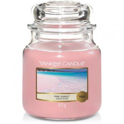 Yankee Candle - vonná svíčka Pink Sands (Růžové písky) 411g