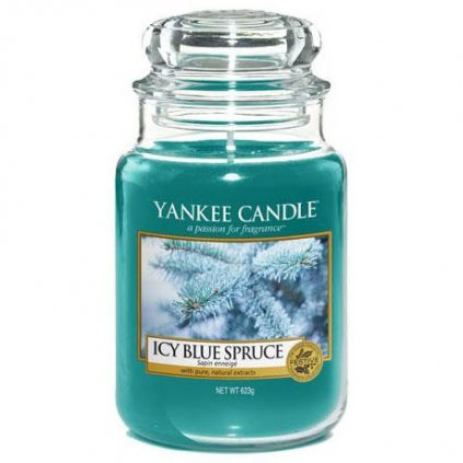 Yankee Candle - vonná svíčka Icy Blue Spruce 623g