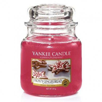Yankee Candle - vonná svíčka Frosty Gingerbread (Perník s polevou) 411g