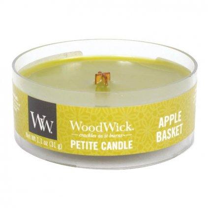 WoodWick - vonná svíčka Petite, Apple Basket (Košík s jablky) 31g