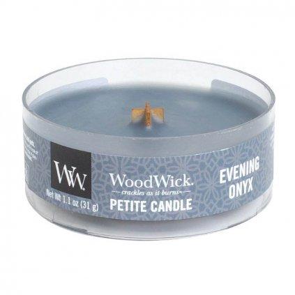 WoodWick - vonná svíčka Petite, Evening Onyx (Večerní onyx) 31g