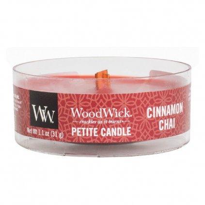 WoodWick - vonná svíčka Petite, Skořice a vanilka 31g