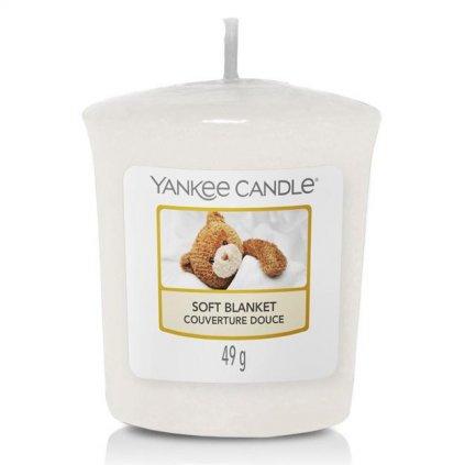 Yankee Candle - votivní svíčka Soft Blanket (Jemná přikrývka) 49g