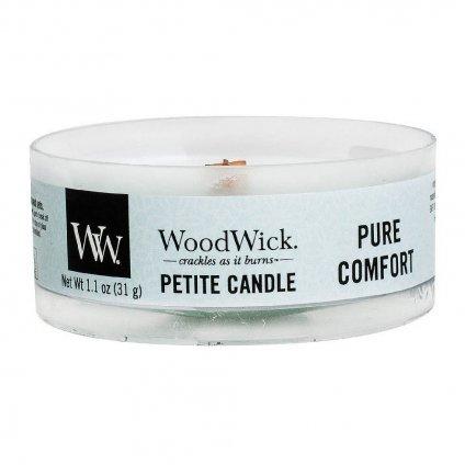 WoodWick - vonná svíčka Petite, Pure Comfort (Čisté pohodlí) 31g